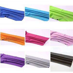 Asciugamano Sport Ghiaccio Asciugamani sensazione di freddo esercizio all'aperto asciugamano Solid raffreddamento sudore ghiaccio Absorbing asciugamani multi colori Fitness Towel DHF1379