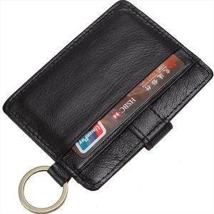 Coffee RFID Theft Protect Card Holder Genuine Leather Man Mini Credit Card Wallet Purse Men Wallet Thin Small