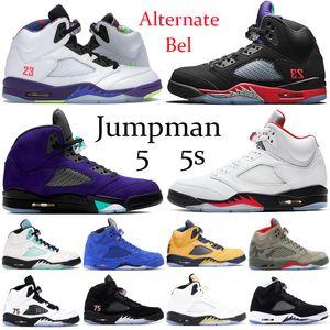 Hot 5 5s Ailes de basket-ball International Flight Chaussures Hommes Ice Université Bleu formateurs de créateurs de chaussures de sport rouge hommes bottes