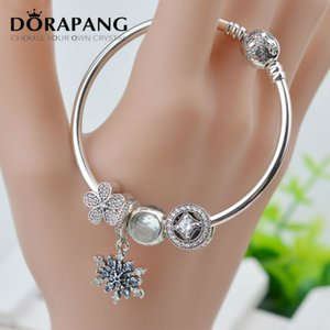 DORAPANG 2017 New Summer 925 Sterling Silver Charm Beads fits European Women Bracelets & Bangles Sets of chains Gift DIY Jewelry