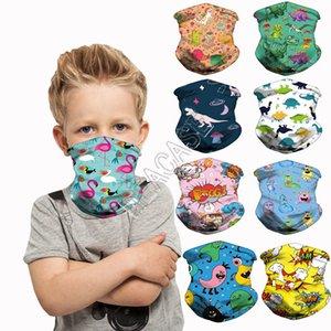 Kinder-Cartoon-Dinosaurier-Einhorn Sport Schale Gesicht Masken Magie Verband Kinder Stirnband Hairwraps Facemasks Zyklus-Ansatz-Ring Kopfbedeckung D83102