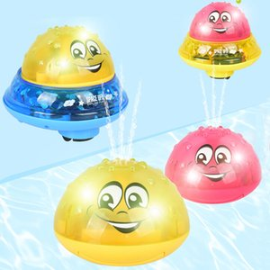 Funny Infant Bath Baby Electric Induction Sprinkler with Light Music Children Water Play Ball Bathing Toys Kids Gifts
