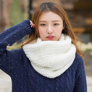 2020 Art und Weise neue Unisex Winter-Schal gestrickt Schal-Kragen-Ansatz-Wärmer Frau Crochet Ring Spanien Schleife Frauen Schal für die Dame