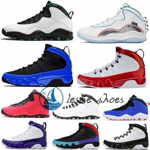 Novas 10s 10 Asas Homens Chicago Arrefecer GreyNakeskinJordâniaRetro Cement cinzento- Westbrook Mens 9s 9 sapatilhas esportivas Trainers