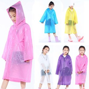 Non -Disposable Raincoats Ponchos For Children Thicken Wearable Eva Kids Raincoat Outdoor Travel Hooded Poncho Kids Raincoat Bh1666 Tqq