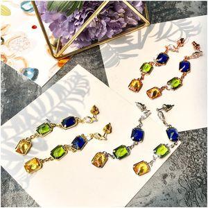 Handmade Bead Drop Earrings for Women Multi Color Long Bohemian Party Fashion Jewelry Statement Earrings Accessories Jewelry