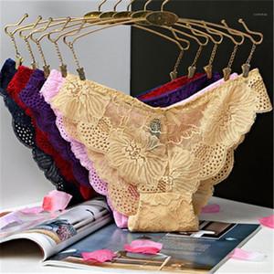 Feminino Confortável Soflt oco Out Bow Calcinhas Ladies Briefs cintura baixa Fashion Trend Seamless Lace respirável Sexy Underwear Designer