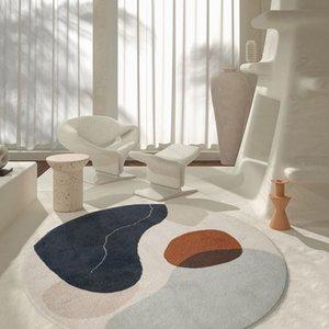 Nordic INS Art Rund Teppich für Wohnzimmer Heim Schlafzimmer Teppich Kinderzimmer Griffige Table Mat weichen flaumigen Study Area Rug