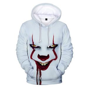 Pennywise Halloween-Party-Pullover 3d für Kid Männer Pop Harajuku Halloween-Kostüm Idee Sweatshirt Baumwolle plus Street Drop Ship MX200813