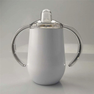 Bottiglia 10 once sublimazione Sippy Coppa d'acqua con coperchi a perfetta tenuta in acciaio inox Tumbler Doppia parete vuoto Biberon BPA libero con i capezzoli A02