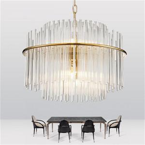 atmosfera soggiorno pendente in vetro di casa lampada a sospensione portato Nordic illumina ristorante semplice lampadario di cristallo postmoderna dell'arte americana