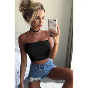 Tees Summer Women T Shirts Solid Color Sleeveless Skinny Ladies Tops Sexy Slash Neck Slim Women