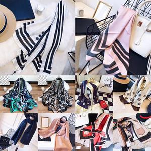 20SS avec la boîte sac facture pour les femmes Designer scarfs Imprimer Foulard en soie luxe Châle Pashmina Hijab place Echarpes Plaid mode Top qualité