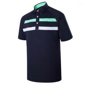 Designer Polo Estate manica corta risvolto collo Mens Tops Moda Tennis Golf Sport Mens Tees a righe Stampa Mens