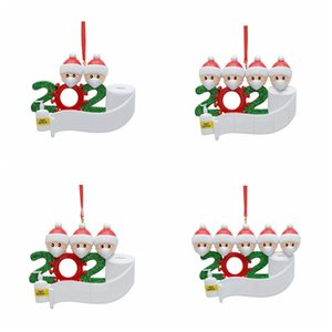 2020 Christmas Tree Ornament Hanging Ornament Family Of 5 Christmas Pendant Decoration Home Xmas Party Decorations CYZ2708