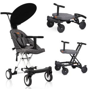 Portátil Folding carrinho de bebê leve carrinho de bebê Quatro rodas do carrinho de criança Crianças Walker Car aprender a andar Pram Absorber