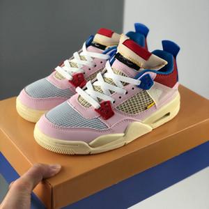 2020 nouvelle version Union LA x 4 Womens Basketball Brigade Bleu Fusion Rouge Rose Jumpman 4 IV sport Chaussures de sport Formateurs des Chaussures
