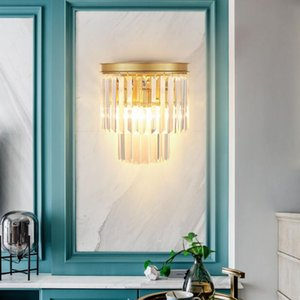 Modern Crystal Wall Sconces Up and Down Wall Lights Vintage Loft Style Lamp Bedside Home Bedroom Accessories Stairs