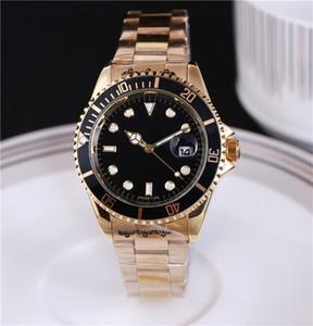 mens masculino 40MM Relogio relojes de lujo de la moda Negro Dial con el calendario bracklet cierre plegable de matriz macho para hombre Relojes de pulsera