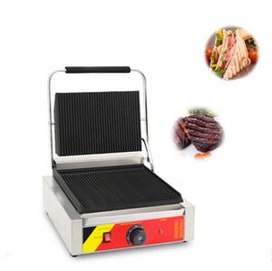 Электрический Sandwich Panini Maker машина Цифровой дисплей Хлеб Мясная Тостер Коммерческая Panini Grill машина