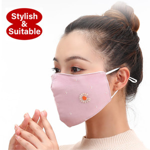 2020 New Designer Winter Women Girl Fold Outdoor Cotton Mask Reusable Washable Protective Dust Gas Face Mask Autumn Winter Mouth Cover