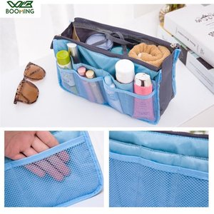 WBBOOMING Fashion Travel Storage Bag Zipper Portable Lady Makeup Cosmetic Bag Insert Bag Women Nylon Organizer T200301