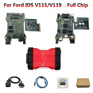 Sistema de diagnóstico VCMII VCM II para Ford VCM2-E IDS HDD V119 / V115 VCM 2 interfaz dual PCB OBD2 herramienta de análisis multi-idioma