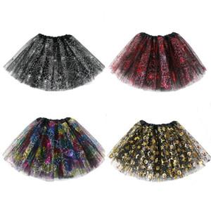 Kinder-Mädchen-Kleidung-Spinnen-Netz Cobweb Kostüm Tutu Mädchen Cosplay Rock-Partei-Abendkleid-Halloween-Kostüm-Kleidung 4 Styles Geschenke OWF834