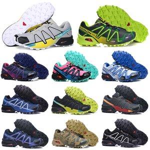 salomon hotsale Speedcross 3 4 CS Trail Running Shoes Cruz Roja velocidad Naranja para mujer para hombre ENTRENADORES caminatas al aire libre Deportes zapatillas de deporte