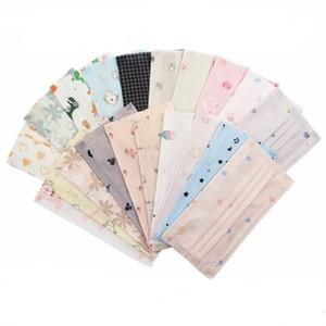 Gesichtsmaske Wegwerfvorlage für Erwachsene Karikatur facemask mit dreischichtige Schutz gedruckt und schmelzgeblasenen Schicht dünnen atmungs staub- Maske