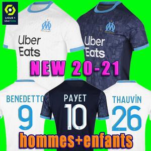 NOVO Olympique de Marseille camisa de futebol 20 21 jerseys OM 2020 2021 maillot de pé PAYET Thauvin 120 anos camisa de futebol KAMARA