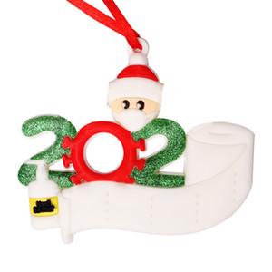 2020 Weihnachtsschmuck Christbaumkugel Quarantäne Pvc 3D Personalisierte Survived Familie von 4 5 6 Ornament