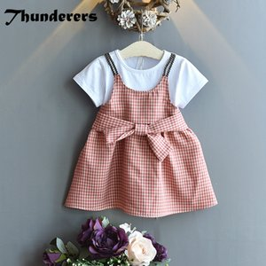 Girls Fashion Dress 2020 New Style Elegant Dress for Baby Girl 24m-6years Old Short Sleeve Princess Casual Dress X0923