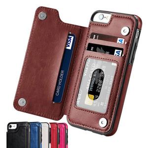 Luxo Slim Fit couro premium iPhone For Cover 11 Pro XR XS Max 6 6s 7 8 Plus 5S Wallet Card Case Slots à prova de choque Virar Shell