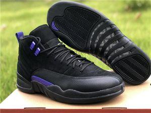 Miglior qualità autentica 12 Scuro Concord 12s Uomini scarpe da basket reale in fibra di carbonio Sport e scarpe da tennis CT8013-005 con la scatola