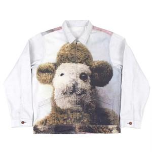20ss mens chaquetas de mezclilla de diseño de la chaqueta de la moda hip hop clásico de ultra alta definición amplia zona de impresión digital YKK cremallera del metal escudo de grandes dimensiones