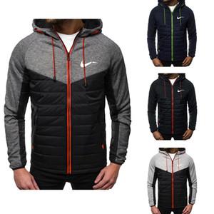 Neuer Art und Weise Hoodie Druck Herbst Hoodiesweatshirt beiläufige mit Kapuze Sportkleidung Jacke dünne Abschnitt und Fleece-Jacke der Männer Reißverschluss Strickjacke