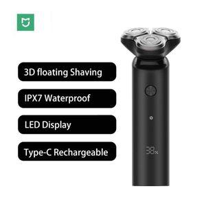 Xiaomi Mijia rasoir électrique S500 Portable Flex rasoir 3 Tête à sec humide rasage lavable barbe Trimer intelligente à faible bruit