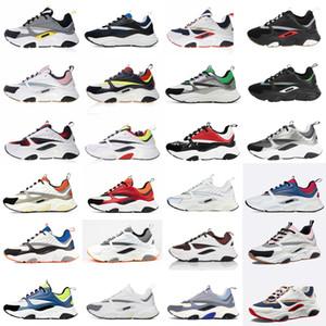 dior B22 Sneaker Erkek Tasarımcı Ayakkabı bağbozumu Sneakers Tuval Ve Dana derisi Eğitmenler Lüks Unisex Düşük En Günlük Ayakkabılar 20color Büyük boy 35-46