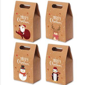 Natal Caixas de doces Xmas Kraft Vintage Apple Paper Gift Box Natal Mailbox Caixas de presente Xmas Bakery Embalagem Box Detalhes no LSK959