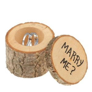 Bague de mariage au porteur Boîte en bois bricolage boxex Mignon Petite boîte cadeau Novel Holiaday Party Gift WY439