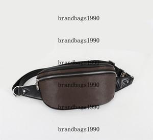 Neueste Art und Weise Brusttasche Schreiben Druck Waist Taschen Kaffee Damier Gürteltasche Umhängetasche 40298