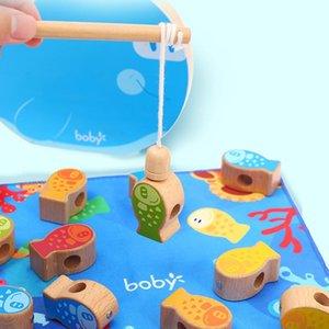 24 مجموعة / مربع الأطفال فتاة فتى الصيد لعبة مجموعة البدلة اللعب المغناطيسي المياه لعب اطفال ورضيع السمك التعميم ساخنة هدية بالجملة