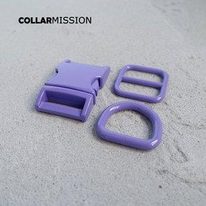 Розничная торговля (металлическая пряжка + регулировка пряжки + D кольцо / комплект) DIY ошейник фиолетово 20мм лямки шитья аксессуар спрей набор краска пряжка