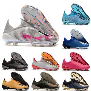 2020 حار x 19+ 19.1 FG كرة القدم رجالي الانزلاق على كرة القدم الوردي 19 + X أحذية كرة القدم أحذية كرة القدم المرابط حجم الولايات المتحدة 6.5-11