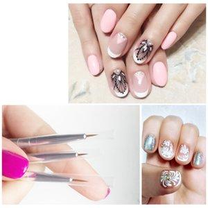 3Pcs Set White Nailbrush For Gel UV Polish Soft Brushes For Manicure Painting Tiny Nail Pattern Nail Art Pen