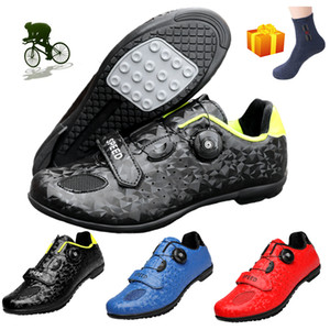 Nouveau Cyclisme Chaussures Homme Sport VTT Chaussures de sport en plein air Vtt Racing Semelle en caoutchouc Chaussures de vélo SAPATILHA Ciclismo vélo Hombre