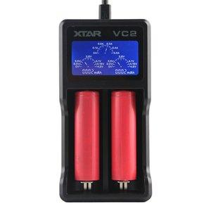원래 xtar의 VC2의 chager 니켈 수소 배터리 충전기 배터리 충전기 LCD 18650 18350 26650 21700 리튬 이온 배터리 충전기