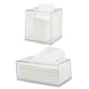 Gesichts Acryl Tissue Box löschen Tissue Box Cover Rechteckige Serviette Auto-Büro-Papierhalter Spender