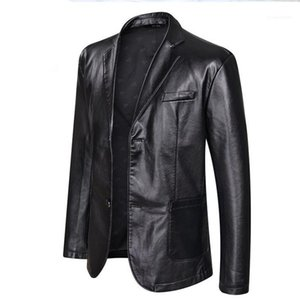 Clothing Coats Designer Jacket 5XL 6XL Plus Size Mens Big PU Leather Jackets Casual Single Breasted